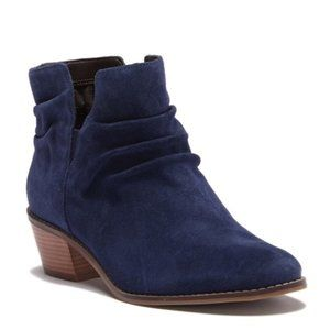 Cole Haan Alayna Slouch Suede Bootie, Marine Blue
